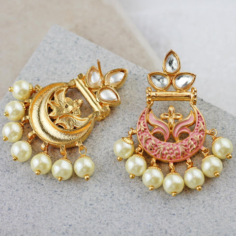 Pink Traditional Drop Earring