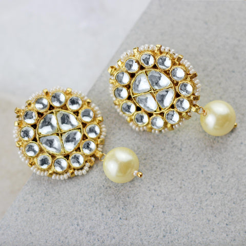 Kundan Statement Drop Earring