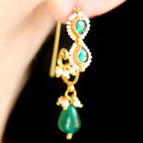 Pearl Green Dangle Earring