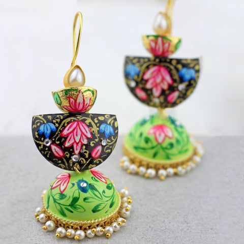 Three Tier Garden Drop Jhumke