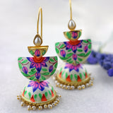 Three Tier Pink Drop Jhumke