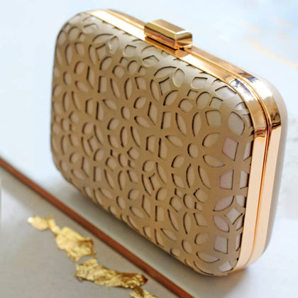 Cutwork Gold Clutch Box