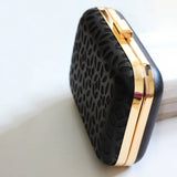Cutwork Black Clutch Box