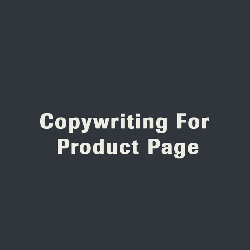 Copywriting For Product Page