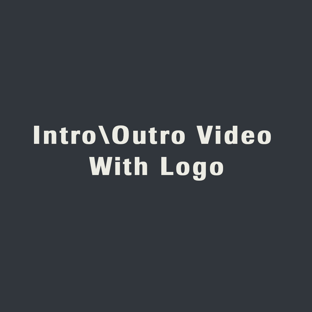 Video Intro\Outro With Logo