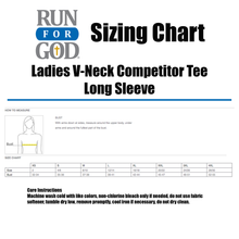 Ladies V-Neck Competitor Tee LS