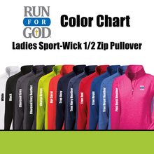 Ladies Sport-Wick 1/2 Zip Pullover