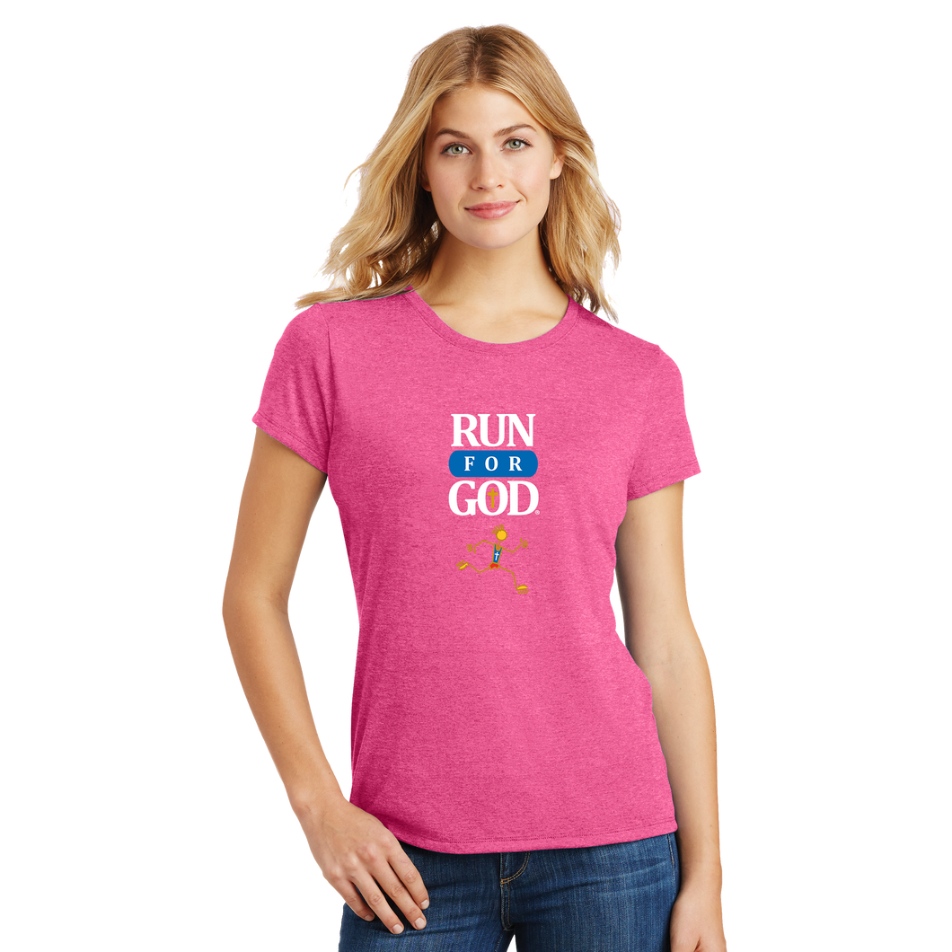 The Run for God Tee - Ladies