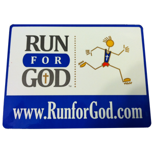 Run for God Decal