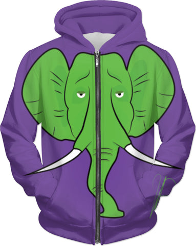 Elephant Dreams - Zip Up Hoodie