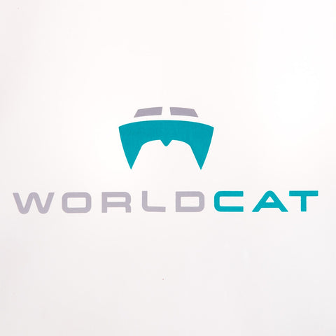 World Cat Vinyl Sticker
