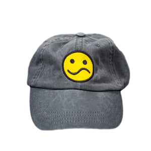 Borderline Black Distressed Denim Cap