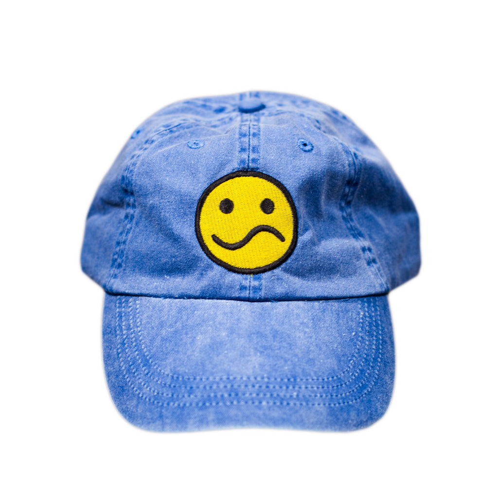 Blue Distressed Denim Cap
