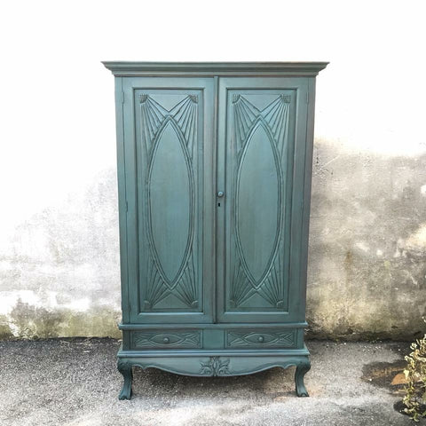 Armoire in Autentico Vintage Paint in Byzantine by Eastcote Lane