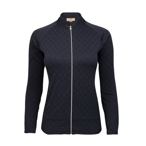 Monroe Space Dye Diamond Jacquard Full Zip Jacket