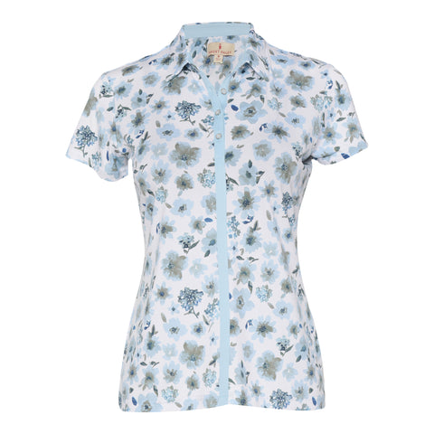 Carina Short Sleeve Print Polo