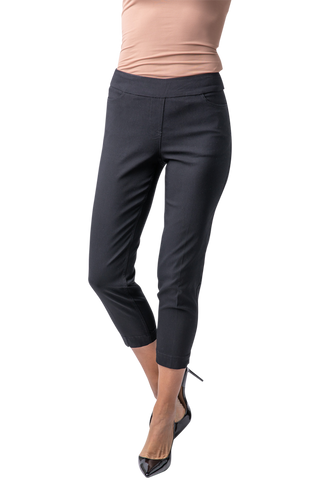 Pull On Golf Skinny Crop - Black