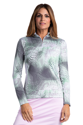 Alexandria Long Sleeve Print Polo