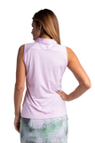 Hailey Sleeveless Polo - Ice Pink