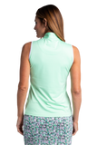 Aura Sleeveless Colorblock Polo