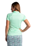 Hailey Short Sleeve Polo - Neo Mint