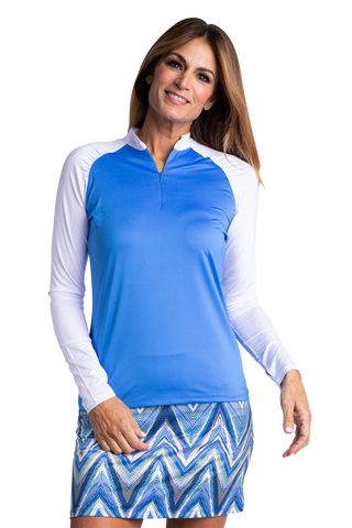 Ali Long Sleeve Colorblock Polo