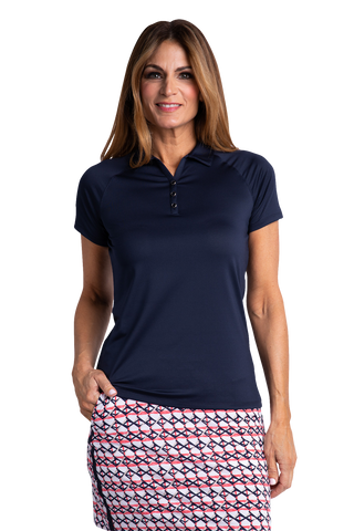 Hailey Short Sleeve Polo - Navy