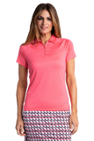 Hailey Short Sleeve Polo - Nantucket Coral