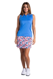 Hailey Sleeveless Polo - Vista Blue