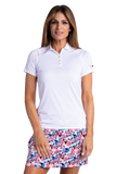 Hailey Short Sleeve Polo - White