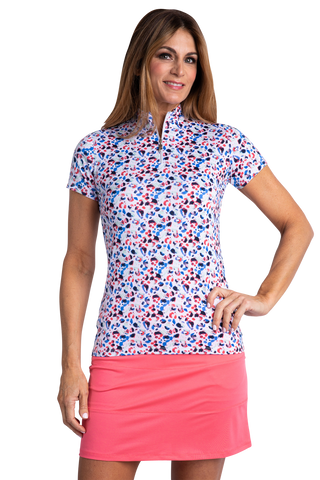 Heidi Short Sleeve Print Polo