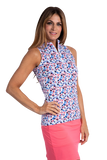 Heidi Sleeveless Print Polo