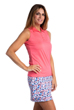 Hailey Sleeveless Polo - Nantucket Coral