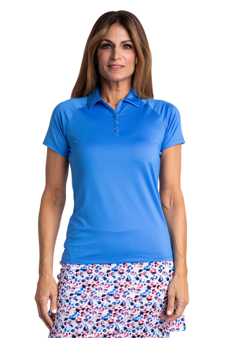 Hailey Short Sleeve Polo - Vista Blue