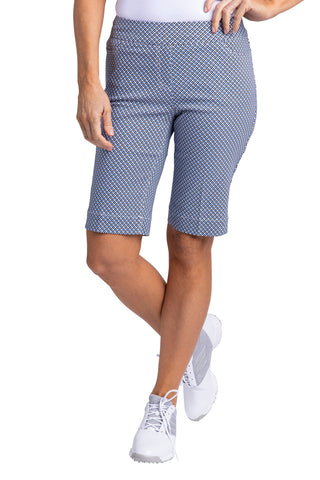 Slimsation Golf Print Short - Vista Blue Print