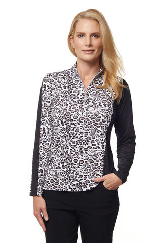 Gwen Long Sleeve Print Polo