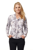 Miranda Long Sleeve Print Polo
