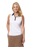 Opal Sleeveless Polo