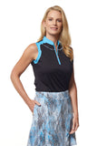 Patsy Sleeveless Colorblock Polo
