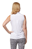Pilar Sleeveless Solid Polo - White