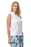 Azura Sleeveless Solid Polo
