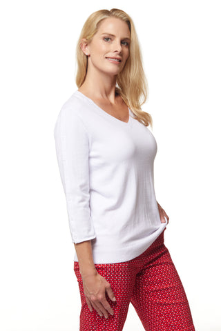 Cara Sweater - White