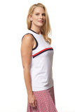 Piper Sleeveless Solid Polo