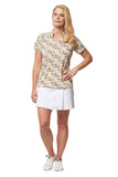 Racina Short Sleeve Print Polo