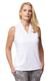 Crystal Sleeveless Polo