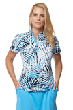 Kukka Short Sleeve Print Polo