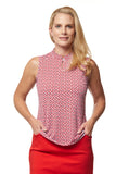 Scarlett Sleeveless Print Polo