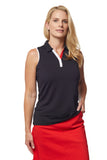 Harmony Sleeveless Solid Polo