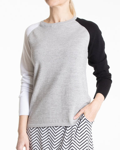 MERCER Long Sleeve Colorblock Sweater - Multi