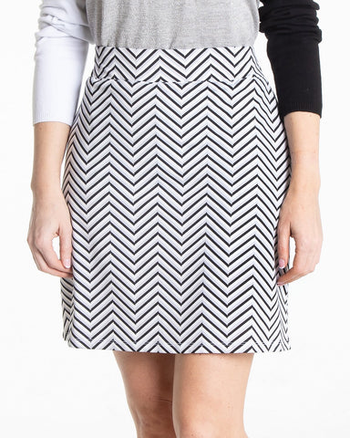 INFINITY Print Skirt - Black/White